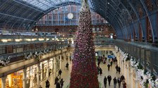 St Pancras International Christmas Tree