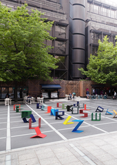 Alphabet by Kellenberger-White, Finsbury Avenue Square, Broadgate