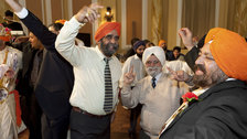 Only Human: Photographs by Martin Parr - Sikh wedding at City Hall, Cardiff, Wales, 2008 by Martin Parr