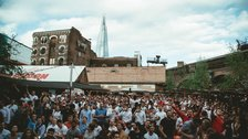 The World Cup Soccer Lounge at Flat Iron Square by Harvey Pearson