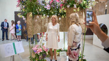 Garden Museum - HRH The Duchess of Cornwall visits the Garden Museum for British Flowers Week competition, 2018