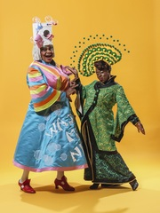 Clive Rowe and Tameka Empson star in Aladdin at Hackney Empire by Perou