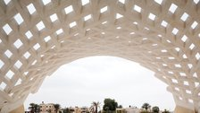 Beazley Designs Of The Year - Stone Matters, pavilion in Jericho, Palestine. Designers: AAU Anastas / Scales and Laboratoire GSA