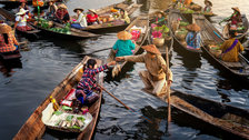 Sony World Photography Awards Exhibition - Moment of Water Floating Market © Min Min Zaw, Myanmar, 2nd Place, National Awards, 2019 Sony World Photography Awards