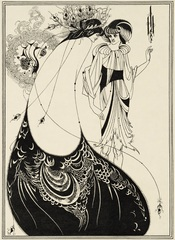 Aubrey Beardsley - Aubrey Beardsley (1872-1898) Illustrations for Oscar Wilde?s Salome 1893 The Peacock Skirt Line block print on paper Stephen Calloway Photo: © Tate
