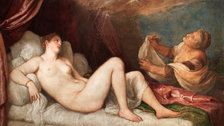 Titian: Love, Desire, Death - Titian, Danae, probably 1554?6 Oil on canvas, 114.6 × 192.5 cm Wellington Collection, Apsley House, London © Stratfield Saye Preservation Trust
