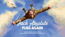 Jack Absolute Flies Again by National Theatre Graphic Design Studio