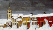 Harald Sohlberg: Painting Norway - Harald Sohlberg, Street in Roros in Winter, 1903, The National Museum of Art, Architecture and Design, Norway
