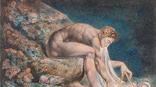 William Blake - William Blake (1757-1827) Newton 1795- c. 1805 Colour print, ink and watercolour on paper 460 x 600 mm Tate