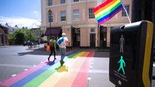 Pride Crossings - Pride Crossing created in Greenwich in support of Pride in London 2019