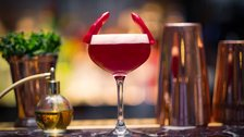 The Devilishly Hansom cocktail - Served at The Hansom Bar, 28th October to 3rd November 2019 by St Pancras Renaissance