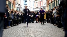 Leadenhall Market Pancake Race by Lamb Tavern