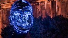 Battersea Light Festival: Battersea Power Station - Talking Heads by Viktor Vicsek