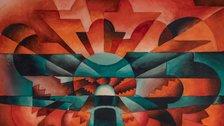 Tullio Crali: A Futurist Life - Tullio Crali Roarings of an Aeroplane, 1927 (Rombi d'aereo) Watercolour on paper 21 x 29 cm © Estorick