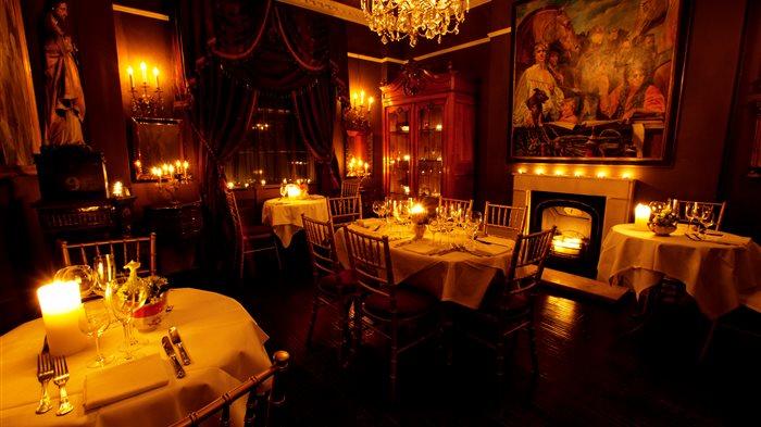 Image result for dim lit restaurant